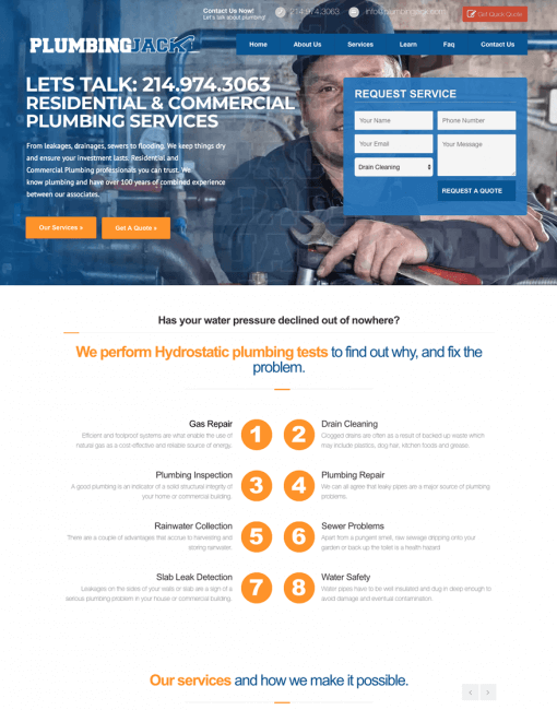Website Development & Marketing > Plumbing Systems Firm