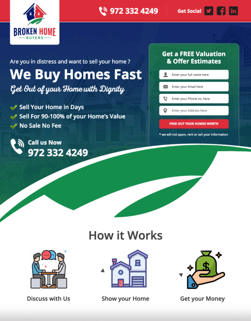 Real Estate Lead Generation Website